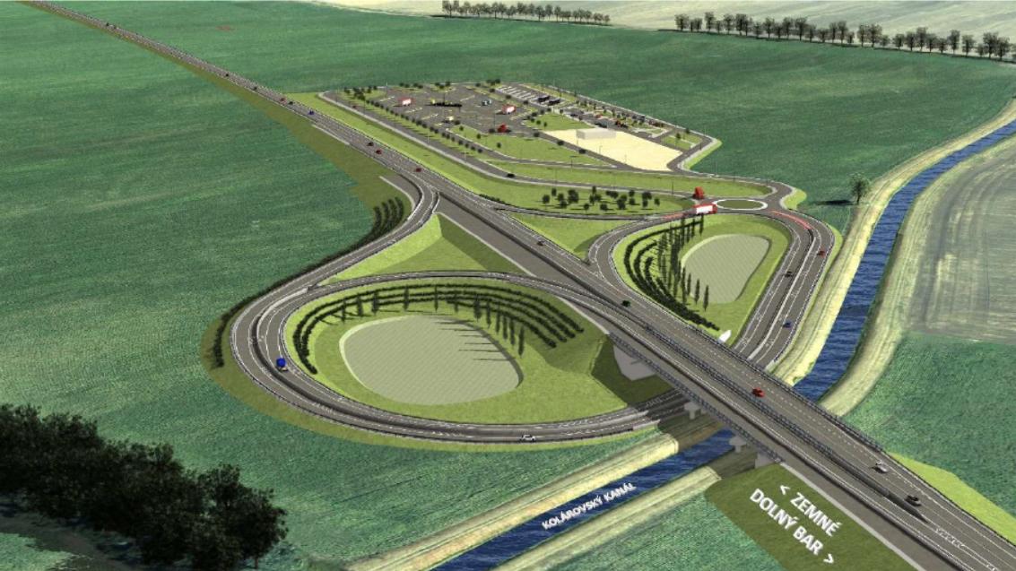 Mimoúrovňová križovatka na rýchlostnej ceste (Infraworks)