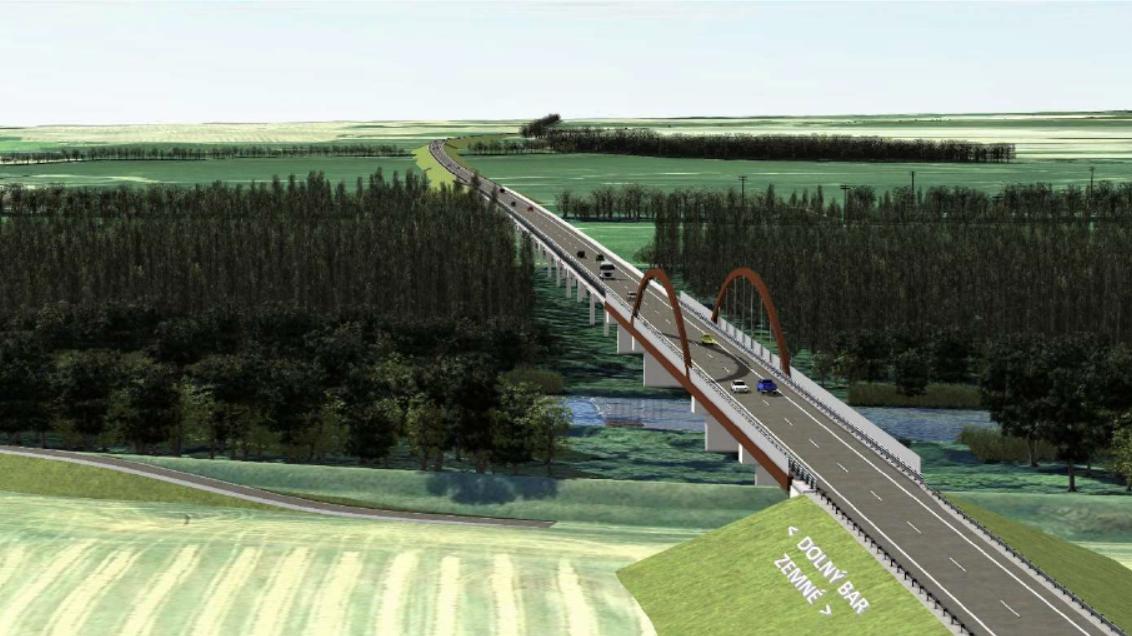 Most a rýchlostná cesta (Infraworks)